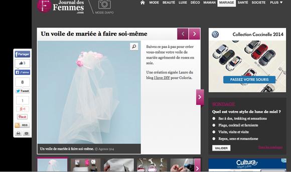 le journal des femmes voile de mariée