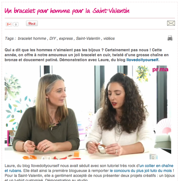 video prima saint valentin 2014 Bracelet
