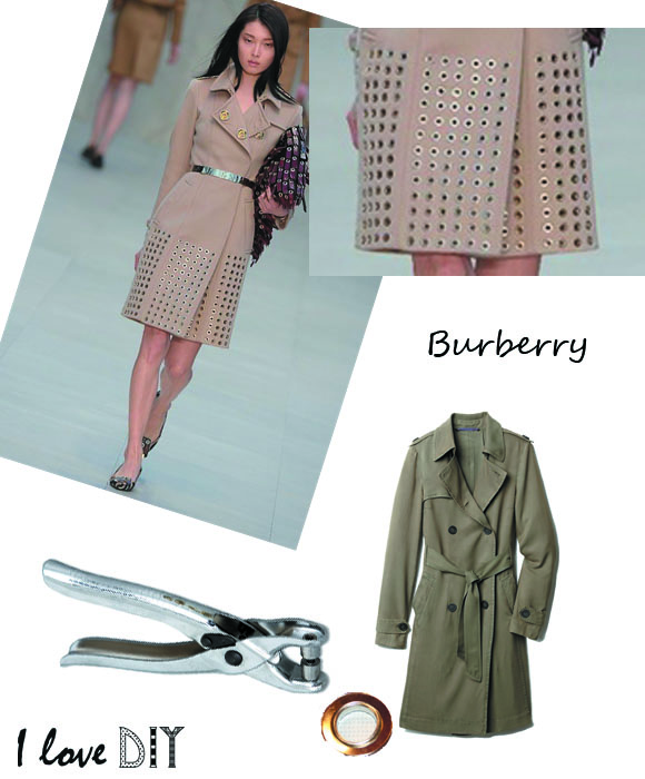 Burberry trench oeillet