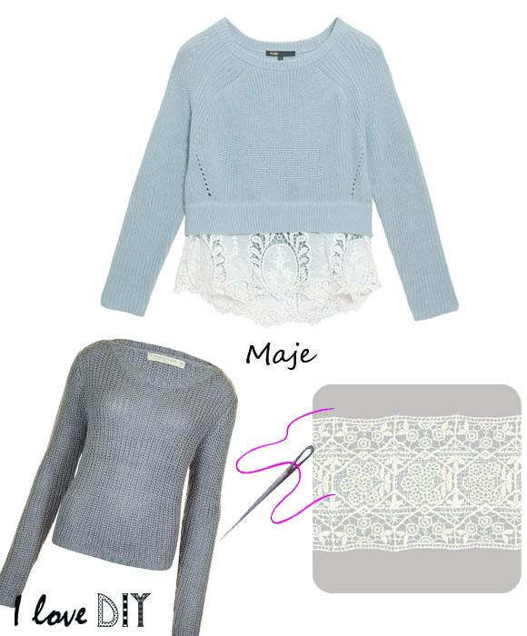 maje crope lace