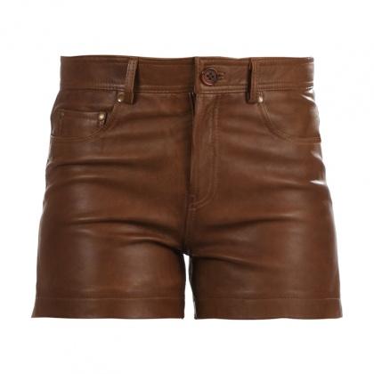 t-shirt-basic-short-en-cuir-ines-cuir-brun-tequila-solo-867133867-139467