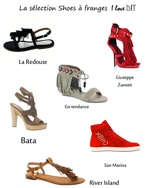 Selection shoes a franges