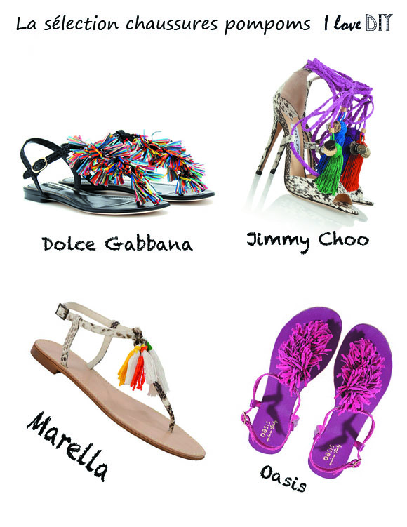 selection sandales pompom
