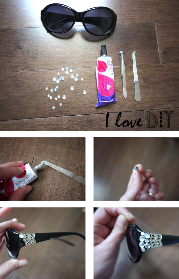 step by step lunettes strass I LOVE DIY