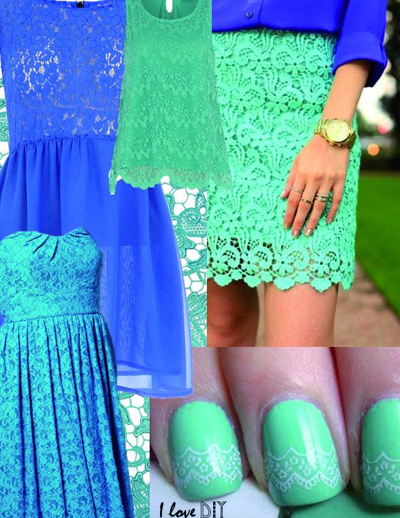 DIY INSPIRATION dentelle bleue