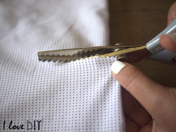 couper le bas de la chemise