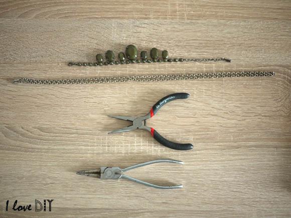 materiel pour transformer un bracelet en collier
