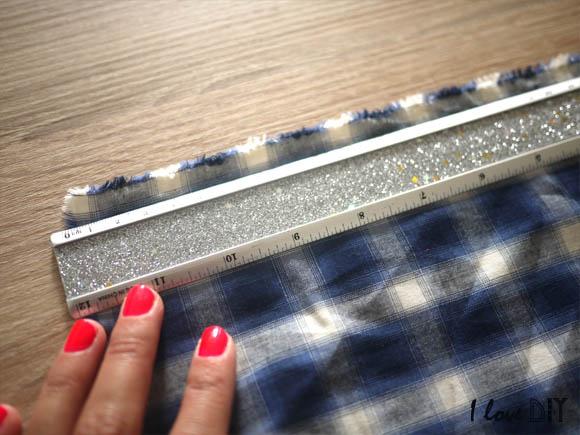 puis reproduire les mesures sur le tissu