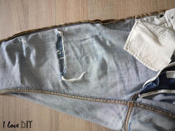 retourner le jean sur l envers