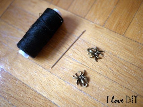 10 prendre du fil a coudre et une pampille araignee