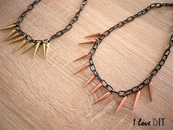collier a pic DIY
