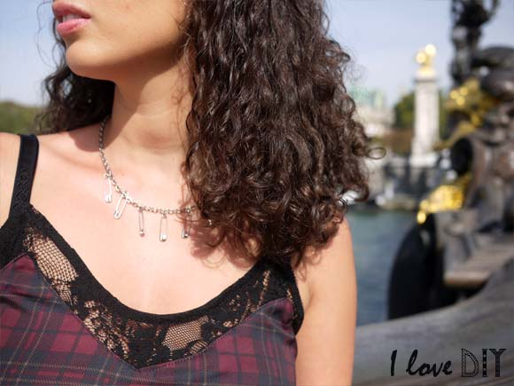 collier epingle a nourrice diy