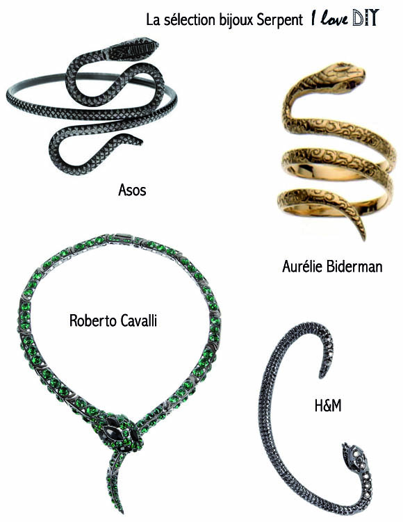 la selection bijoux serpent I LOVE DIY