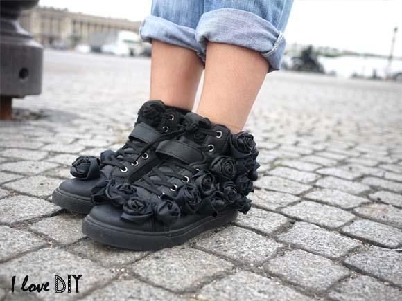 customise tes sneakers avec des fleurs avec i love doityourself