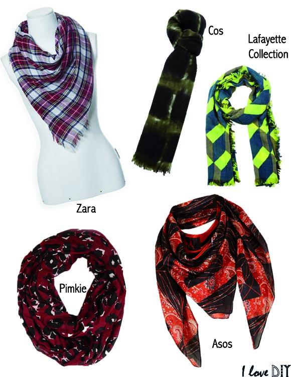 les foulards imprimes I LOVE DIY