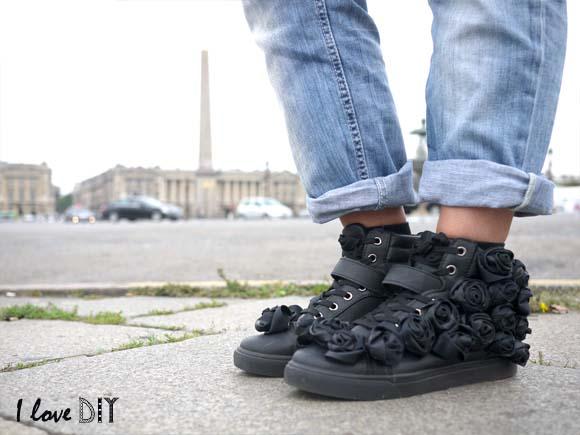 sneakers a fleur customises i love diy