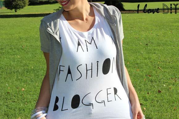 tee shirt PRIMARK I AM A FASHION BLOGGER ilovedoityourself