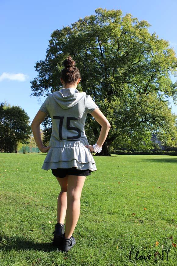 tenue sporty et sweat a capuches DIY