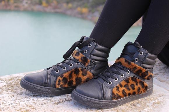 des nouvelles baskets leopard diy