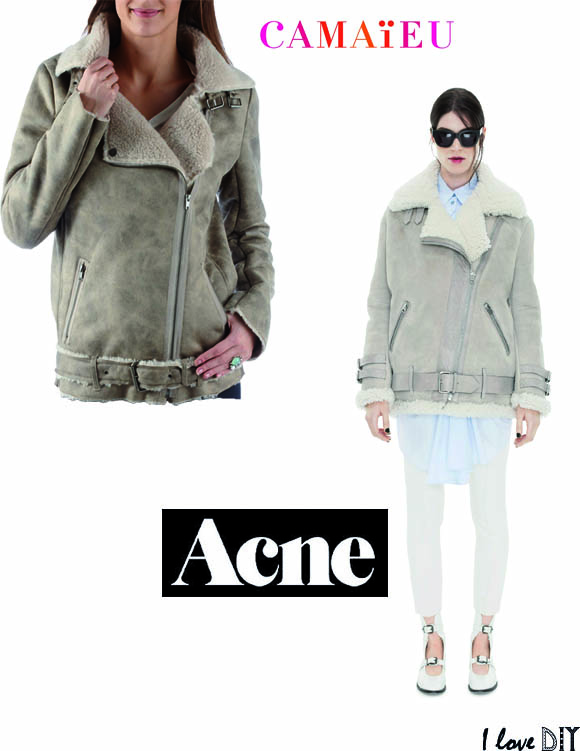 Ersatz de blouson aviateur Acne version camaieu