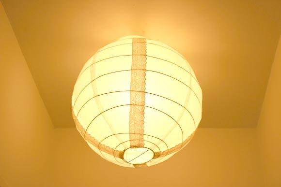customise ton luminère en papier avec de la dentelle