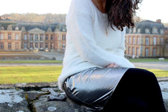 jupe argenté diy