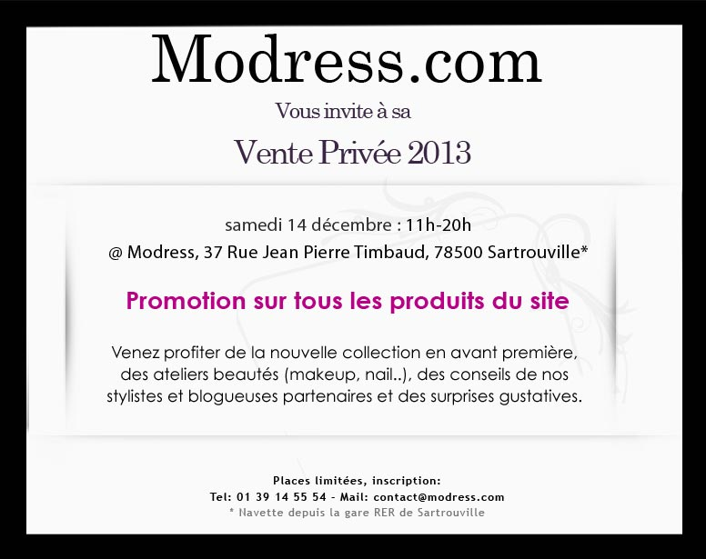 Vente privée MODRESS