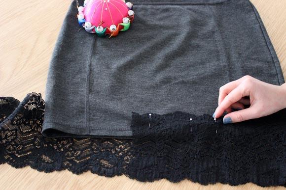 DIY customisez une jupe avec de la dentelle ILOVEDIY4