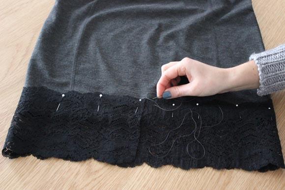 DIY customisez une jupe avec de la dentelle ILOVEDIY6