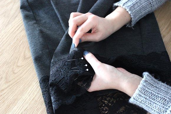 DIY customisez une jupe avec de la dentelle ILOVEDIY8
