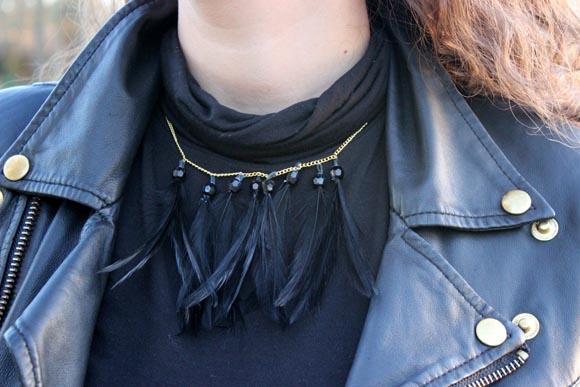collier plumes ilovedoityourself