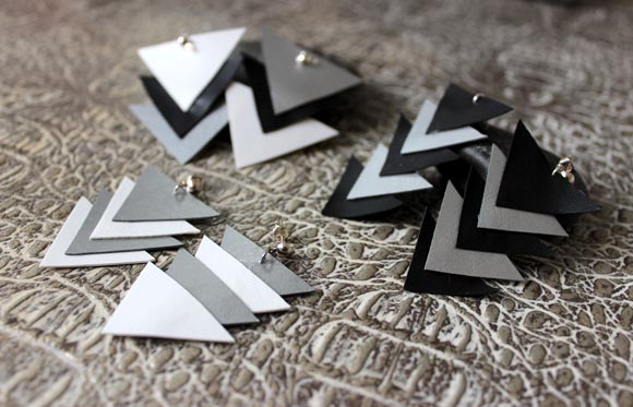 creez des boucles d oreilles géométriques en cuir