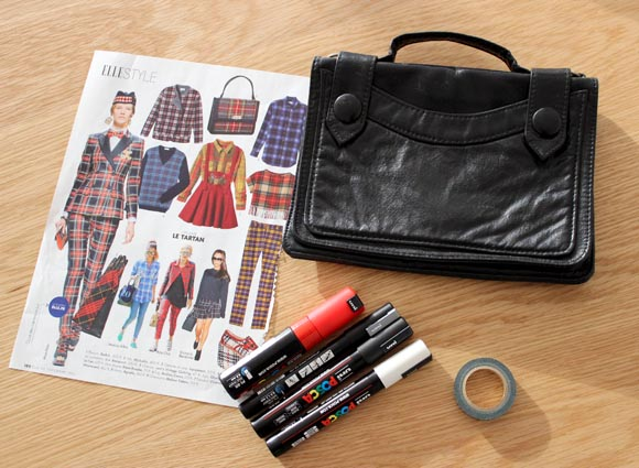 customiser son sac avec du tartan ilovedoityourself