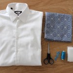 DIY Idée cadeau Saint -Valentin : Relookez une chemise d'homme  | Present idea DIY for Valentine's day : Make-over a man's shirt