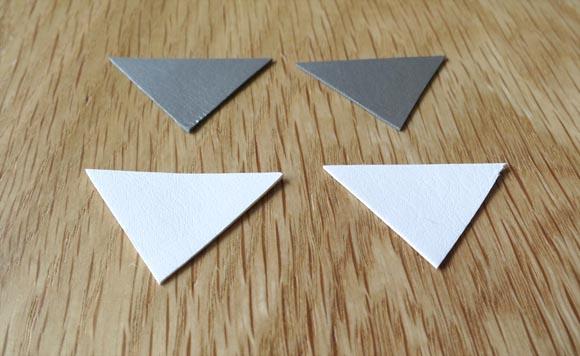 triangle de cuir