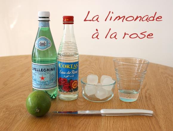 La limonade à la rose version ilovedoityourself
