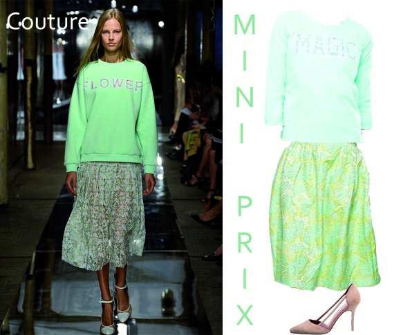 fashion radar un look a la christopher kane version mini prix
