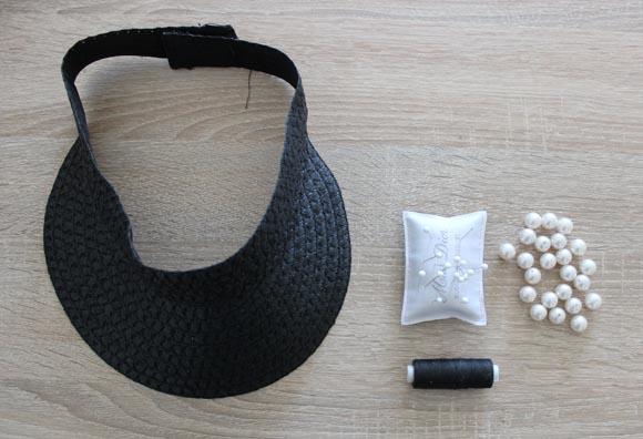 customiser une visiere avec des perles CHIC ilovedoityourself