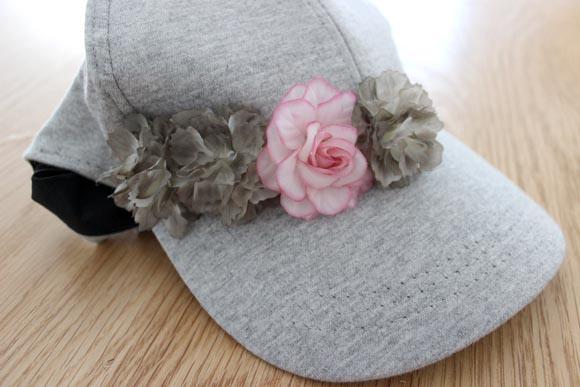 diy une casquette a fleurs4