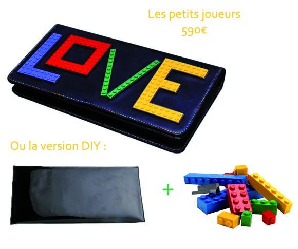 la pochette lego les petites joueurs versus DIY
