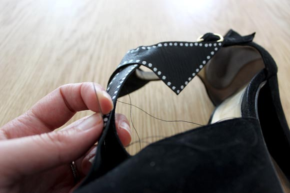 diy chaussures isabel marant noeud9