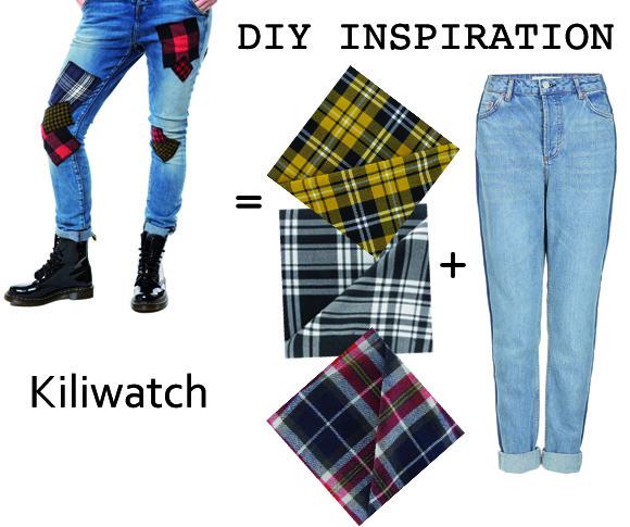Customisez son jean avec des patchs tartans