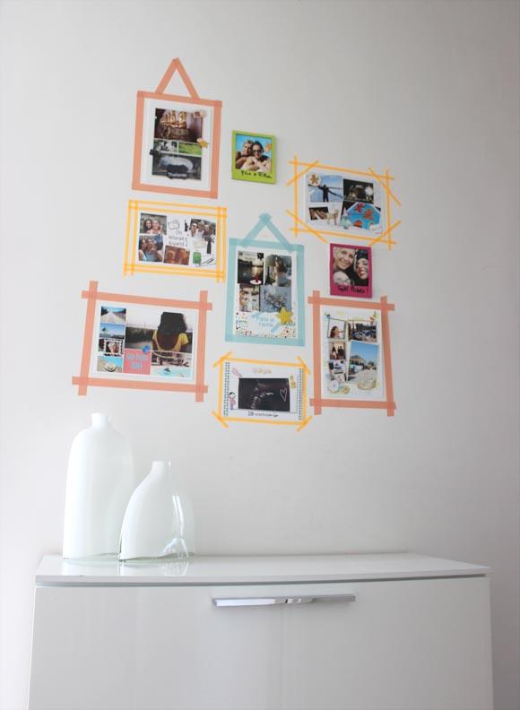 mur de photo DIY