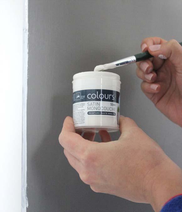 utiliser les bouteilles d essai de peinture