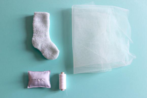custo chaussette de bébe