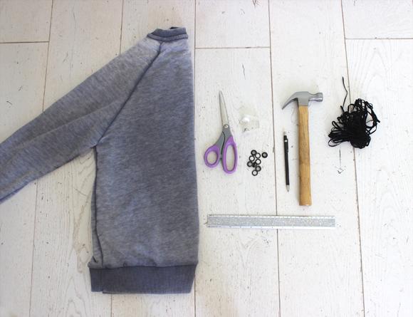 materiel pour customiser un sweat avec des franges2