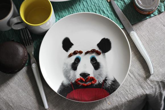ASSIETTE WILD PANDA