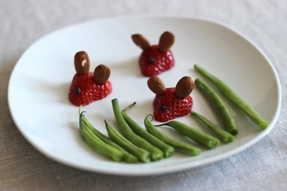 faire des souris avec des fraises