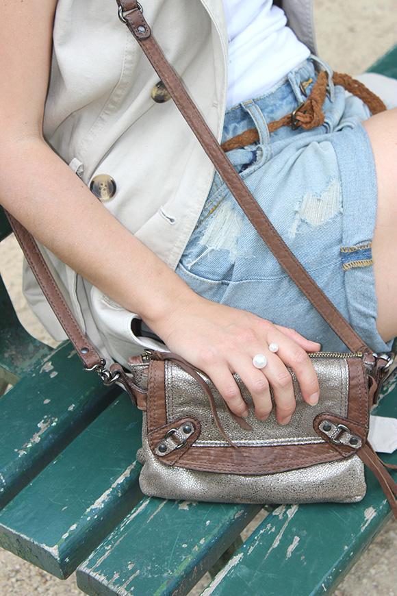 bague double perles sac abaco