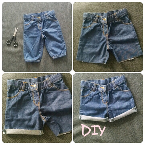 shorts en jeans